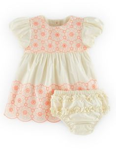 Mini Boden 'Sweet Embroidered' Cotton Dress & Bloomers