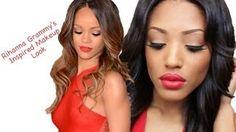Rihanna Grammys 2013 Inspired Makeup, via YouTube.