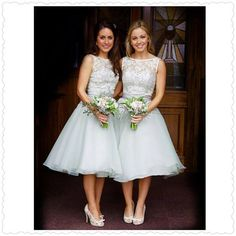 Wedding Dresses & Bridesmaids | True Bride | Bridesmaids wear M570 in Ivory/Sage from our True Bridesmaids Collection