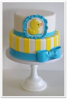 Awesome Rubber Ducky Party, Rubber Ducky Baby Shower, Ducky Baby Showers, Cakes Baby  Showers, Girl Baby Showers, Duck Cake, Baby Cakes, Sweet Cakes, Baby Shower
