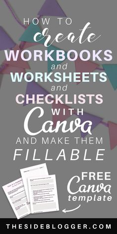 How to Design Worksheets in Canva (with Video) and Make Them Fillable – A Tutori…