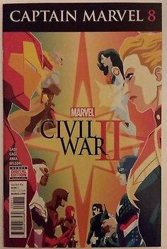 Captain Marvel #8 Marvel Comics Civil War II Iron Man