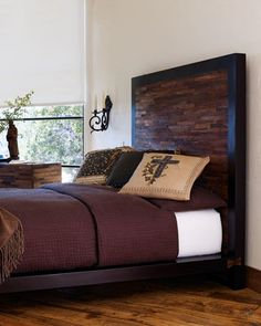Ash, this is one of my fav beds, ever.  Peroba Bedroom Furnishings at Neiman Marcus.