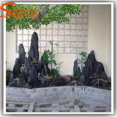 china indoor outdoor garden stone fountain home decoration