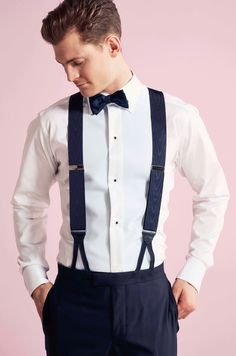 TROELSTRUP SS16. Don't forget to wear suspenders when wearing a tuxedo. Go with a pair of Albert Thurston suspenders for the ultimate 007 look.