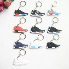 Mini Silicone NMD Keychain Bag Charm Woman Men Kids Key Ring Gifts Sneaker Key  Holder Pendant 9e397e4c99f0