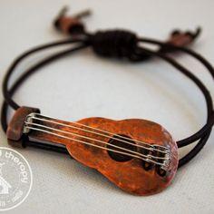 Strike a Chord Copper Guitar Bracelet