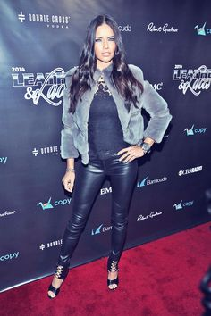 Adriana Lima at the 11th Annual Leather