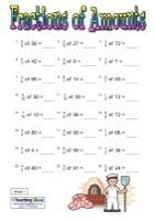 Fractions of Amounts  Click link to get to a page of more worksheets like this