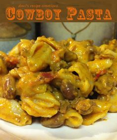 I made this- easy and very tasty! ~Rachel Dani's Recipe Creations: Dani's Cowboy Pasta