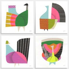 on the print & pattern blog today - illustrator Andrew Holder's bird post…