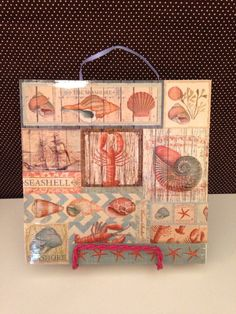 The Seashore Ocean Beach and Seashell Ceramic Tile by crazydaisy12