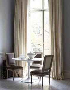 neutral velvet curtains