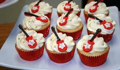 Guitar cupcakes for your next Rock N Roll party.