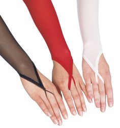 Body Wrappers Long Mesh Gloves