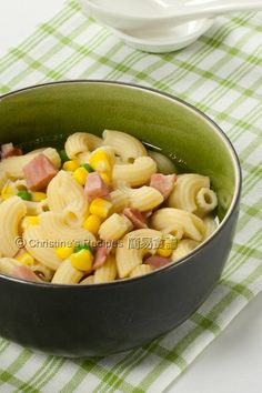 Macaroni Soup with Ham (Hong Kong Style breakfast) from Christine's Recipes. Love this!