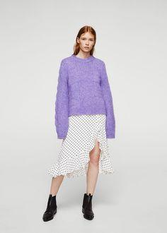 Openwork knit sweater | MANGO