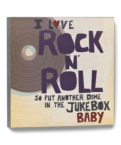 Look at this 'I Love Rock N' Roll' Wall Art on #zulily today!