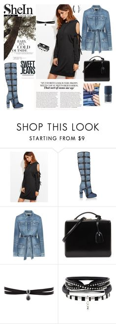 """""""madly in love with jeans"""" by agnesmakoni ❤ liked on Polyvore featuring Tom Ford, Yves Saint Laurent, Mark Cross, Fallon and BERRICLE"""