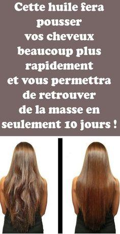 Cette huile fera pousser vos cheveux beaucoup plus rapidement et vous permettra de retrouver de la masse en seulement 10 jours ! Teen Hairstyles, Latest Hairstyles, Yoga Am Morgen, Extreme Hair Growth, Routine, Natural Haircare, Body Makeup, Hair 2018, Lean Body