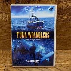 Tuna Wranglers DVD all in a days work a closer in depth look lives of fishermen Southern Bluefin Tuna, Dvds For Sale, Deadliest Catch, Discovery Channel, Day Work, Closer, Ocean, Australia, Movie Posters