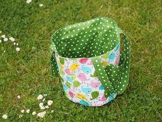Gartentasche aus Wachstuch