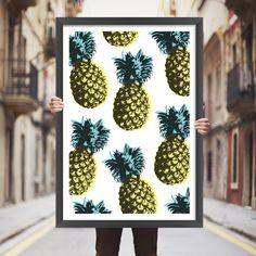 Placa decorativa abacaxi - StickDecor   Decoração Criativa