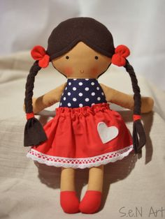 Soft Doll, Rag Doll With Skirt, Softie, Cloth doll, Textile Doll, Fabric Dolls, CE marked, Baby Girl Gift, Hand Made Doll,Textile ballerina
