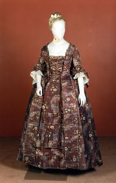 "fripperiesandfobs: "" Robe a la francaise ca. 1750's From National Museums Scotland """