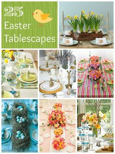 25 Easter Table Ideas from www.thepinkflour.com #easter #table #setting #tablescape #brunch #dinner