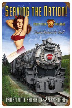 K4-Class 4-6-2 Pennsylvania Rail Road Poster