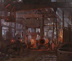 Anna Airy - The L Press Forging the Jacket of an 18 inch Gun Armstrong-Whitworth…