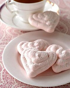 Raspberry Meringue Hearts are perfect for a valentine's day tea party  Source: www.womansday.com