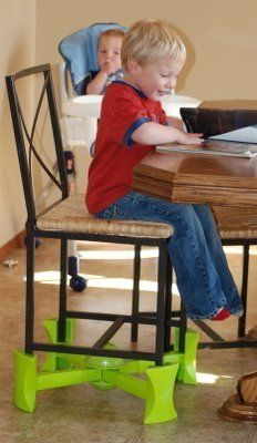 """Too big for a high chair but too short for an adult chair? Not to worry! KABOOST has just the right amount of lift so your little one can sit like the """"big kids"""" do!"""
