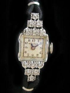 art deco Bulova watch