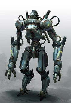 Rusty robot, Miroslav Petrov on ArtStation at https://www.artstation.com/artwork/R6qQW?utm_campaign=notify&utm_medium=email&utm_source=notifications_mailer