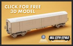 All City Style Blank NYC Subway Car Free Paper Model Download