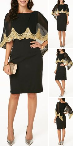 Upgrade your chiffon wardrobe and try new styles t… Cape Dress, Blouse Dress, African Fashion Dresses, Fashion Outfits, Womens Fashion, Fashion Fashion, Mode Style, Sewing Clothes, Capsule Wardrobe