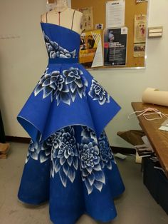 Paper Dress I drafted the pattern High Low, Paper, Projects, Fashion Design, Dresses, Log Projects, Vestidos, Dress, Day Dresses