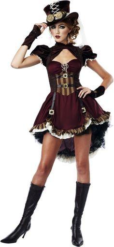 Sexy Victorian Era Wild West Steampunk Brass Gadget Girl Costume Adult Women #CaliforniaCostumeCollection #CompleteCostume