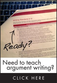 Common Core places heavy emphasis on argumentative writing. Are your kids ready? Click here for the tools they need.
