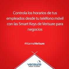 Controla los horarios de tus empleados desde tu teléfono móvil con las Smart Keys de Verisure para negocios. #AlarmaVerisure