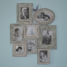 Good Image detail for vintage style distressed multi frame for photos