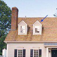 Gablet- The small gables often found over a single dormer window.