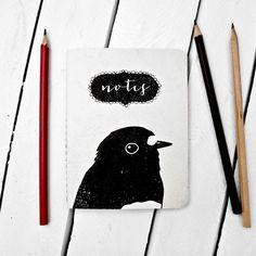 The Paperbird Society is a great little print shop - amazing calendars, too! Shown: Robin Portrait Notebook Robin, Big Cartel, Small Notebook, Black Linen, Blue Jay, Paper Texture, Portrait, Paper Design, Paper Goods