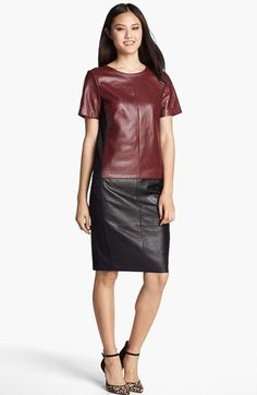 Halogen® Leather Front Top (Regular & Petite) available at #Nordstrom