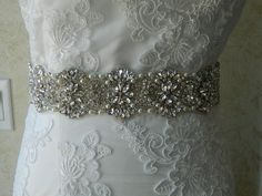 Bridal Rhinestone Belt/SashWedding SashBridal by BridalSashByTania