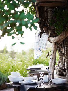 Naturlig skyggeplass under et tre