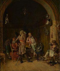 José Villegas y Cordero (Spanish, 1848–1921). Examining Antique Arms, 1870. The Metropolitan Museum of Art, New York. Catharine Lorillard Wolfe Collection, Bequest of Catharine Lorillard Wolfe, 1887 (87.15.39) #swords