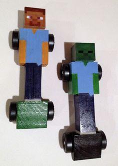 Minecraft pinewood derbycar